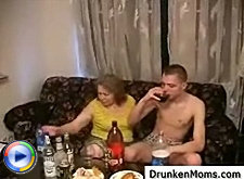 Drunken milf's young neighbor sneaked into her room this morning and gave her the best he had by making her scream like crazy