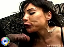Slim naughty mature babe gives blowjob and butt fucking