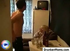 Lad brought to his place drunken mature lady he met in the bar and used her all night long