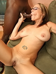 Sexy mommy sunny day in specs devours huge monster cock