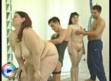 Dirty hardcore adventures of four sexy fat hookers