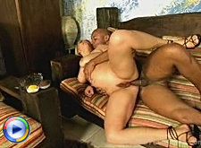 Fat chubby licking own large boobs when fucked bbw