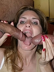 Tara takes on two cocks and gets cumshots