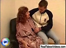 Mature dame loves to fuck on the old armchair with her sweet young fucker