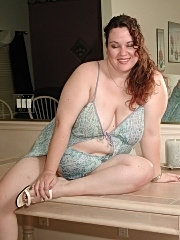 Bbw housewife strips at home