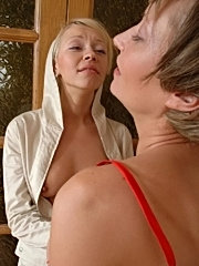 Sweetie licking mature womans tits