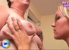 Older housewife gettin' it on with young hottie
