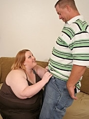 A really fat redhead getting her pussy plowed
