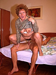 Granny antic old mature slut licking guy balls sex