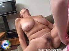 Old mature lesbian are just standing on her knees waiting until her girlfriend fucks her with dildo