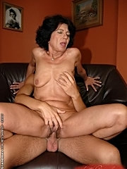 Old fatty mamma gets young guy's cock to fuck with