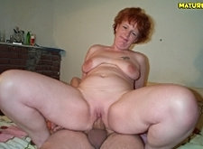 Mature redhead gets a good pounding