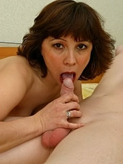 47 y.o. slut seduces barely legal boy with a hot blowjob and gets fucked from the back