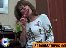 Freaky mature chick eagerly pulling up her skirt under fierce cock assault