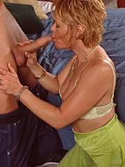 Sexy old honey gets covered in hot cum