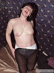 Naughty mom shows amateur striptease