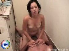Horny old dick seduces and fucks a young beauty in the kitchen