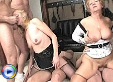 Kinky hot shemale gangbang exposed