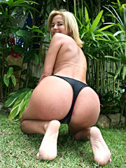 This super sexy brazillian mamma takes a nice cumshot in her fine huge ass in these hot pics