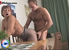 Mature woman sucking mature cock and hard fucking