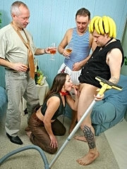 Busty sveta got in hands of horny and sex hungry geck, ruslan and derick. she was fisted and fucked in all holes and had a creampie action.