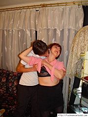 Guy seduces and strips a redhead mature