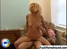 Naughty blonde milf seduces innocent guy and rides his hard cock until he fully satisfies all her needs