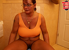 Piss on her face! she shouldn't be in the mens bathroom
