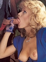 Rich blonde retro lady gets fucked and facial