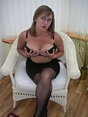 Busty amateur wife wearing glasses