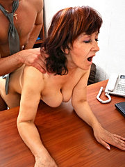 Real big tities mommy plays in office