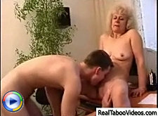 Lad came to his neighbor's place to use the computer but had to fuck his mature wife instead