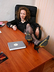 Mom banged hard in an office by her boss