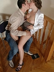 Big tits mature woman hot shows all body in office