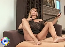 Nicole moore's pussy gets drippy wet as she stimulates it with the rabbit toy