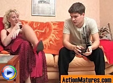 A date of younger guy and mature chick ends with huge bonus up ripe pussy