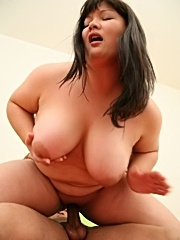 Sweet-looking fatty sucking a mean cock