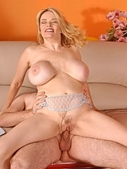 Blonde pornstar lynn lemay showing massive juggs in hardcore pounding
