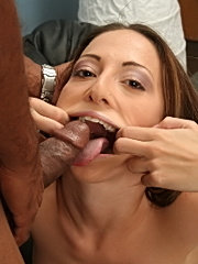 Sexy veronica jett engulfs massave black meat and facialized