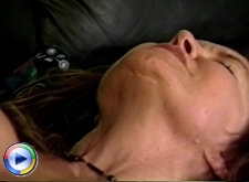 Hot milf with small tits riding a cock