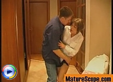 Milf from housekeeping team bangs with her young client