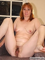 Ginger mom shows boobs and slit