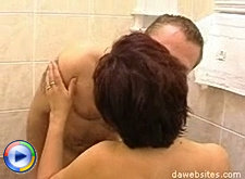 Horny mature bitch gets her fat ass banged right in the bathroom