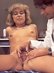 Retro lady goes to the doctor for a trimjob
