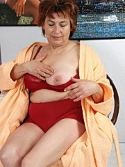 Nasty granny enjoys young dick inside her pussy