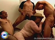 Lustful dude licking mature beaver and drilling tight butt