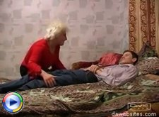Sex-hungry mature bitch seduces and fucks a teen while he's sleeping