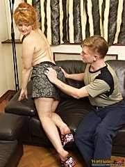 Filthy 40 y.o. slut gets her dripping twat licked by skillful young guy and sucks his dick
