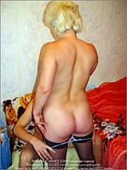 Handsome young guy licking breasts, getting naked and licking a pussy of a pretty aged babe in stockings