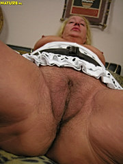 Lucky guy fucks two horny sluts and shoots cum on chubby mature`s ass and nubile chick`s face